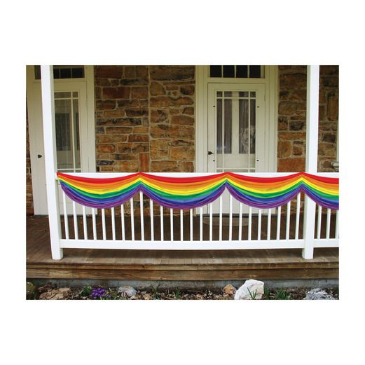 Cinco de Mayo Decorations Rainbow Fabric Bunting Image