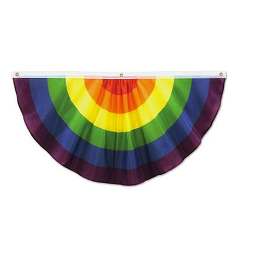 Pride Decorations Rainbow Fabric Bunting Image