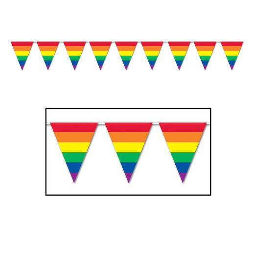 Decorations Rainbow Pennant Banner Image