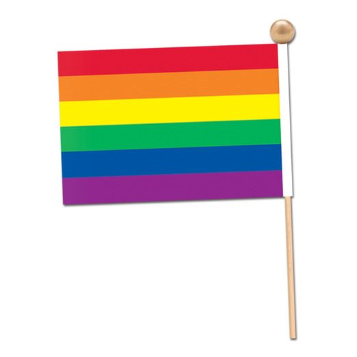 "Decorations 4"" x 6"" Rainbow Flag  Image"