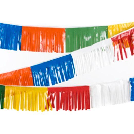 Decorations 60' Multicolor Fiesta Fringe Banner Image
