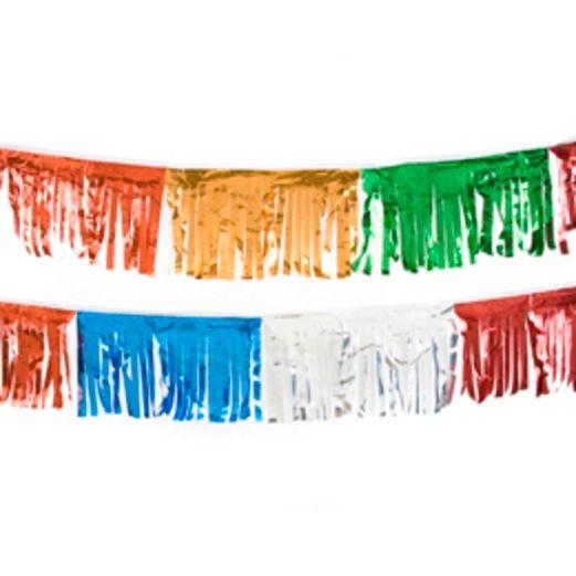 Decorations 60' Multicolor Metallic Fringe Image