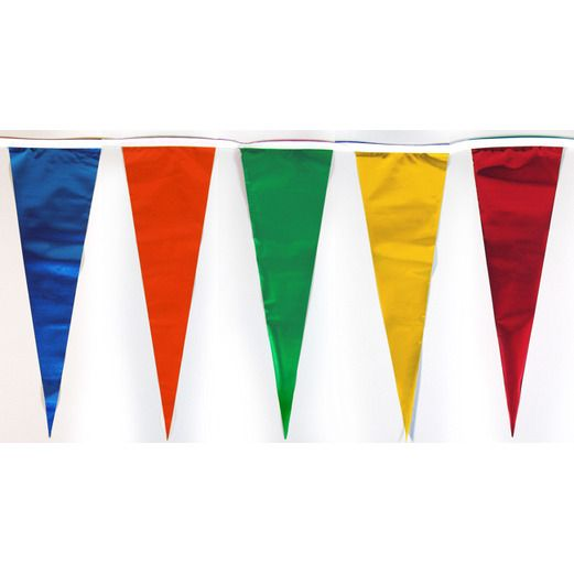 Decorations 60' Brilliant Multicolor Pennant Banner Image