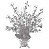 New Years Decorations Silver Starburst Centerpiece Image