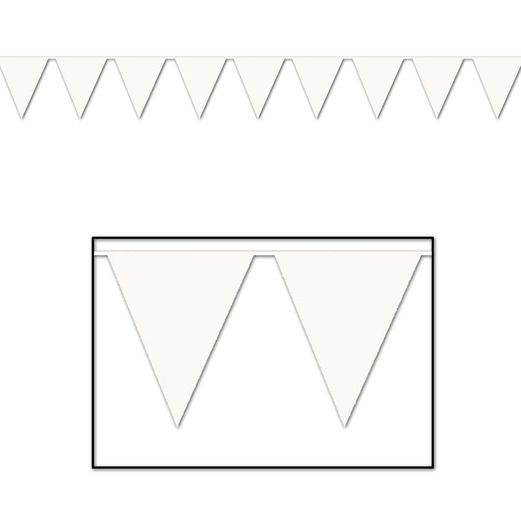 Graduation Decorations White Pennant Banner Image