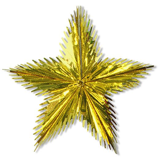 New Years Decorations Gold Leaf Starburst Image