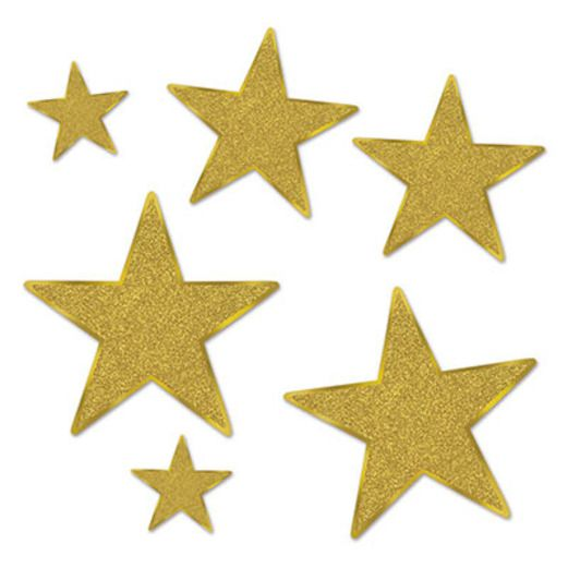 Decorations Gold Glittered Stars Image
