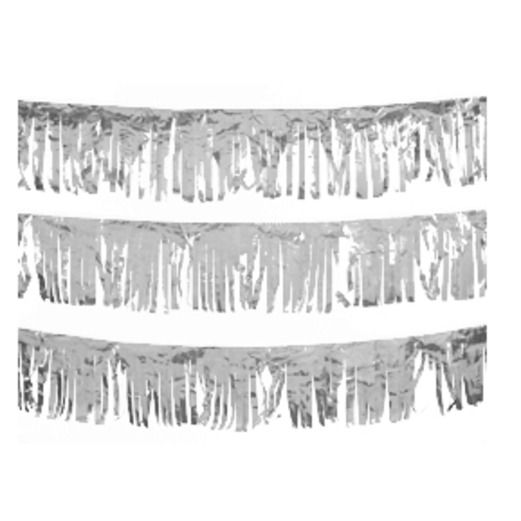 Decorations Silver Metallic Fringe Image