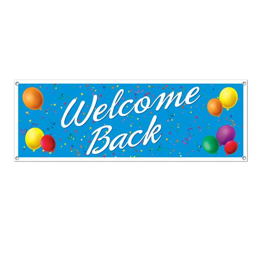 Back to School Decorations Welcome Back Banner Image