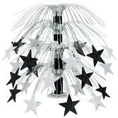 Table Accessories / Centerpieces Black and Silver Star Cascade Centerpiece Image