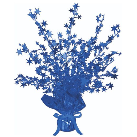 4th of July Decorations Blue Starburst Centerpiece Image
