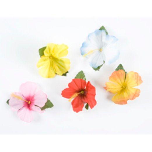 Luau Decorations Hibiscus Flowers Image