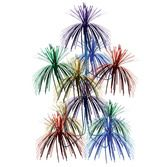 New Years Decorations Multicolor Firework Chandelier Image