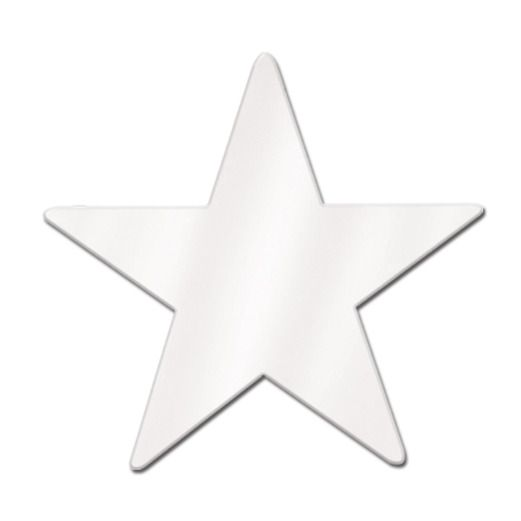 "4th of July Decorations 12"" White Foil Star Image"