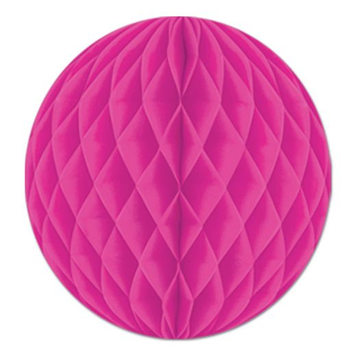 "Valentine's Day Decorations 12"" Cerise Tissue Ball Image"