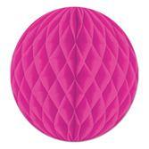 "Valentine's Day Decorations 12"" Cerise Tissue Ball Image"