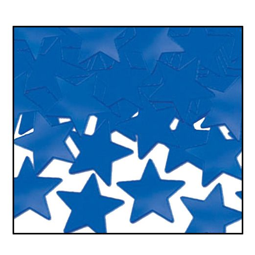 4th of July Decorations Blue Metallic Stars Confetti Image
