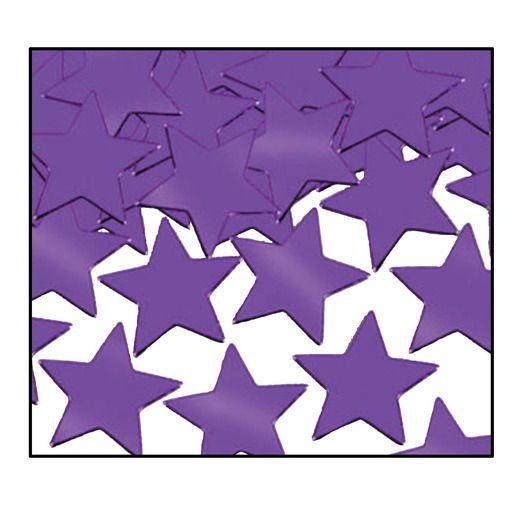 Mardi Gras Decorations Purple Metallic Stars Confetti Image
