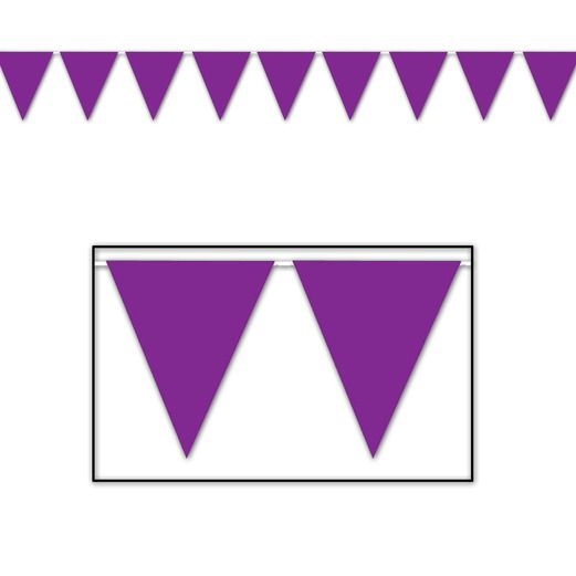 Mardi Gras Decorations Purple Pennant Banner Image