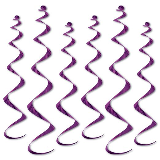 Mardi Gras Decorations Purple Twirly Whirlys Image