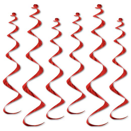 Valentine's Day Decorations Red Twirly Whirlys Image