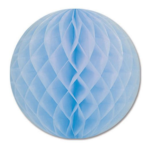"Baby Shower Decorations 12"" Light Blue Tissue Ball Image"