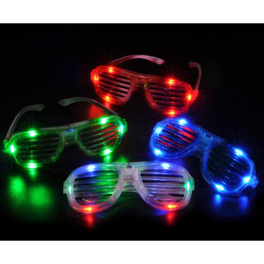 Glow Lights Slotted LED Sunglasses Image