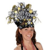 New Years Hats & Headwear Glittered New Year Headdress Image