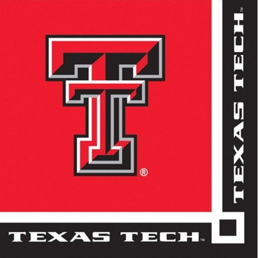 Sports Table Accessories Texas Tech Beverage Napkins Image