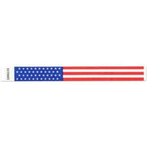 Tyvek Wristbands US Flag
