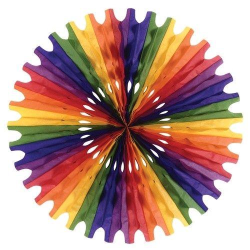 Rainbow Tissue Fan