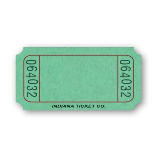 Tickets & Wristbands Green Blank Ticket Roll Image