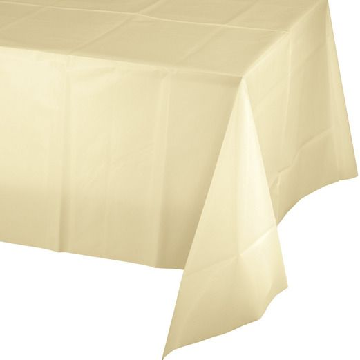 Wedding Table Accessories Rectangular Table Cover Ivory Image