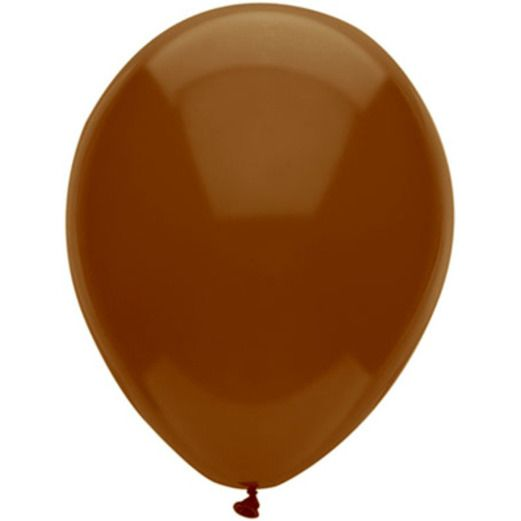 "Thanksgiving Balloons 11"" Chestnut Brown Balloons Image"