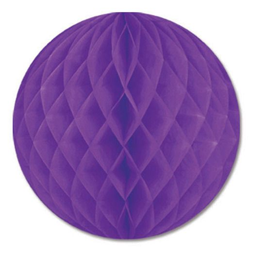 "Mardi Gras Decorations 12"" Purple Tissue Ball Image"