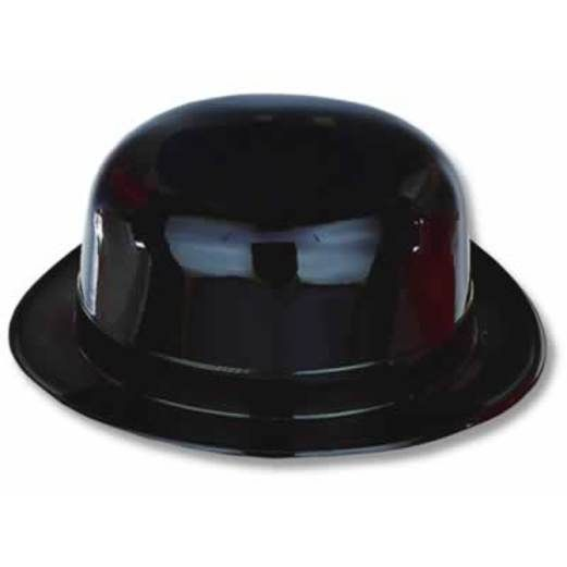 New Years Hats & Headwear Black Plastic Derby Image