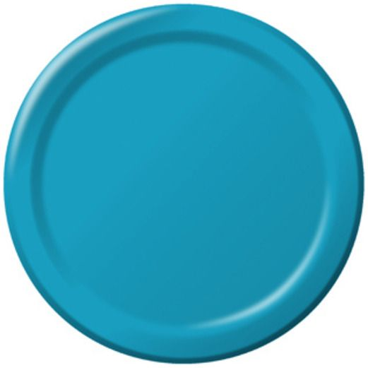 "Table Accessories Turquoise 9"" Plates Image"