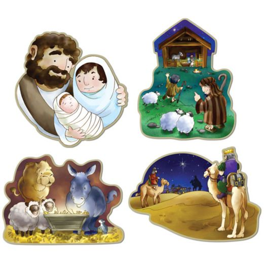 Christmas Decorations Nativity Cutouts Image