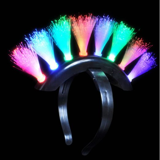 Glow Lights Mohawk LED Fiber Optic Headband Image