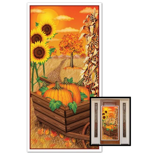 Thanksgiving Decorations Fall Door Cover Image