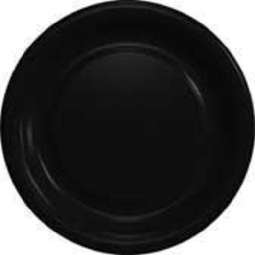 New Years Table Accessories Black Dessert Plates Image