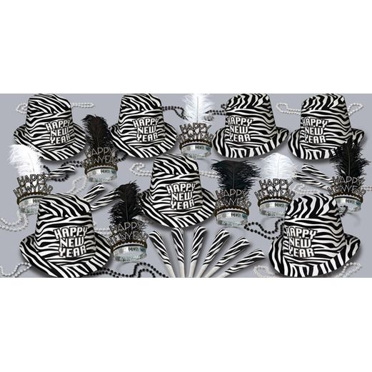 New Years Party Kits Zebra New Years Kit for 50 Image