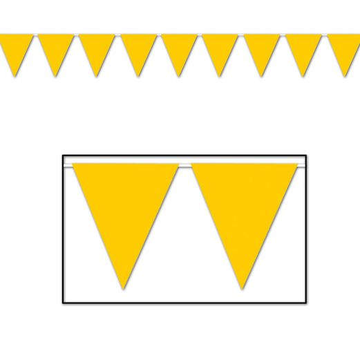 Mardi Gras Decorations Golden Yellow Pennant Banner Image