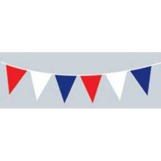 4th of July Decorations 30' Red, White and Blue Jumbo Pennant Image