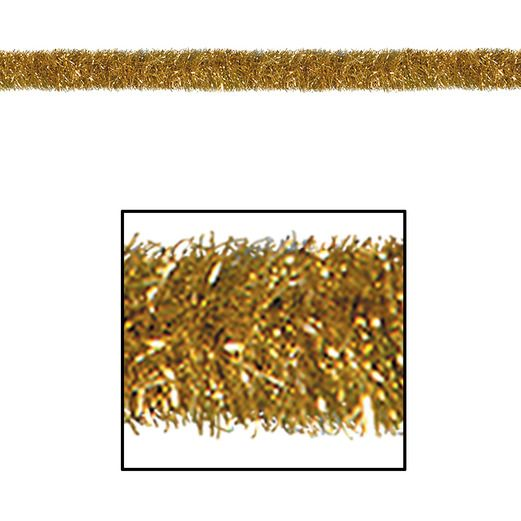 Christmas Decorations Gold 100' Tinsel Garland Image