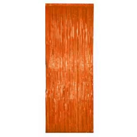Halloween Decorations Orange Fringe Curtain Image