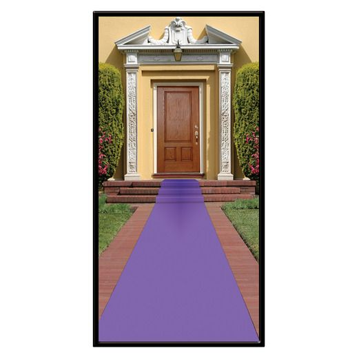 Mardi Gras Decorations Purple Carpet Runner Image