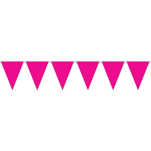 Valentine's Day Decorations Hot Pink Pennant Banner Image