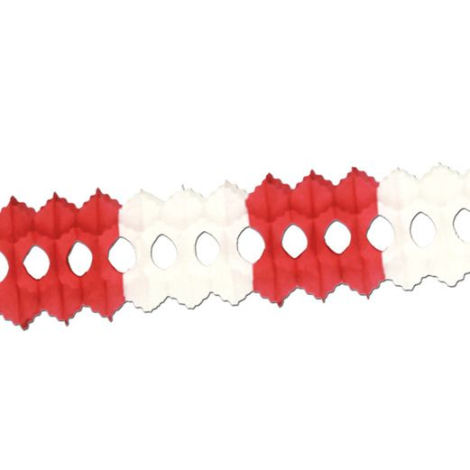 Valentine's Day Decorations Red and White Arcade Garland Image