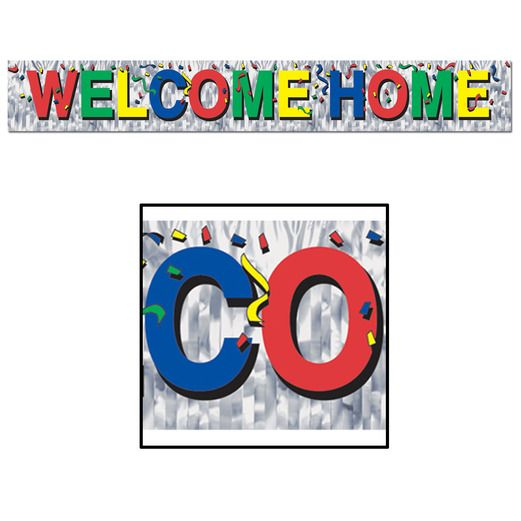 Decorations Welcome Home Fringe Banner Image